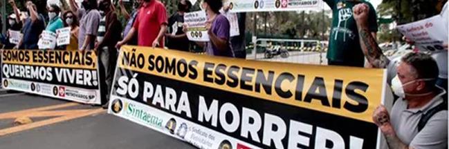 METROVIÁRIOS DE SP FAZEM GREVE CONTRA RETIRADA DE DIREITOS